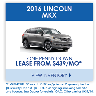 View 2016 Lincoln MKX Inventory